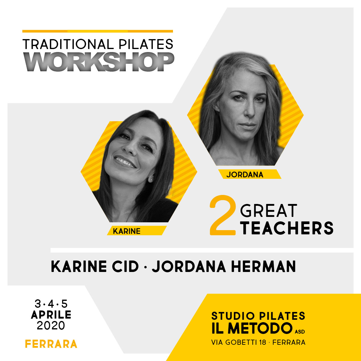 Traditional Pilates Workshop dal 03 al 05 Aprile 2020 a Ferrara con Karine Cid e Jordana Herman